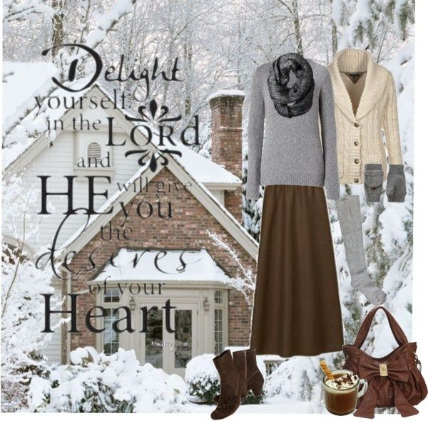 Warm Modest Winter Outfit by christianmodesty on ...
