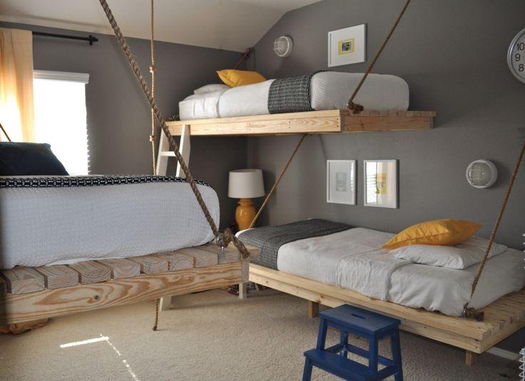 Crazy hanging loft beds