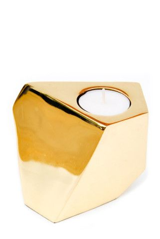 Brass Angles Tealight Holder | LEIF