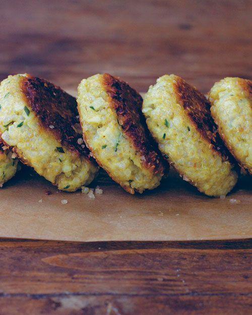 Quinoa patties from my fav cookbook Super Natural Every day by Heidi Swanson