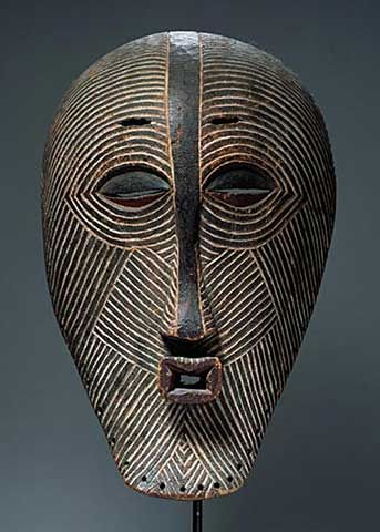 Kifwebe Mask, Luba Culture, from Democratic Republic of Congo by African School.