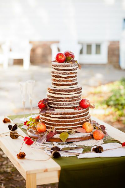 Perfectly imperfect wedding cake
