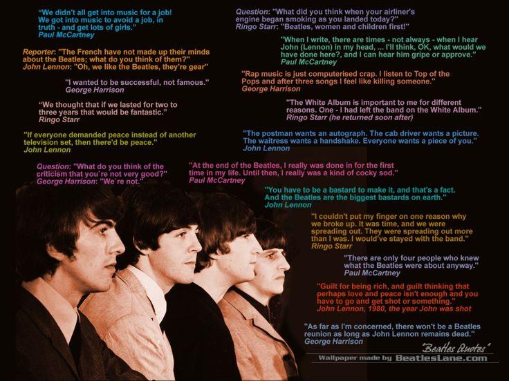 Cool Beatles Quotes QuotesGram