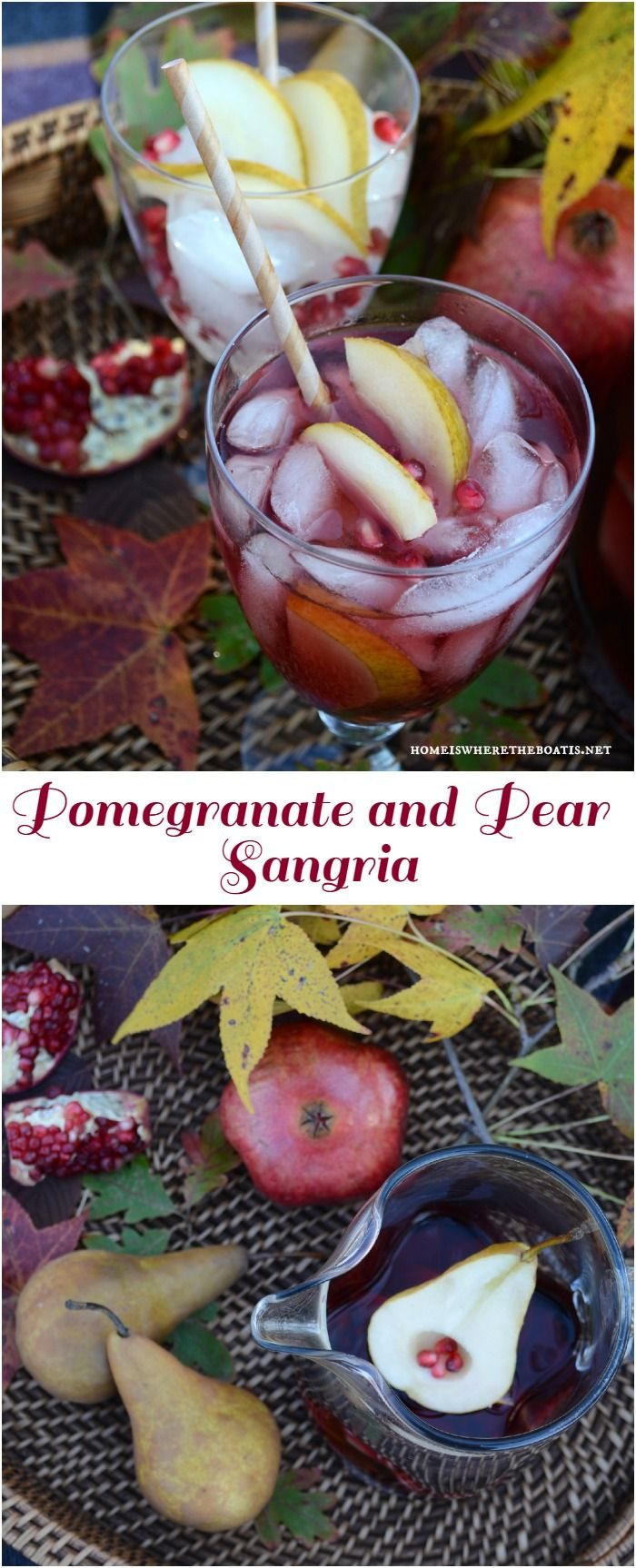 Pomegranate and Pear Sangria