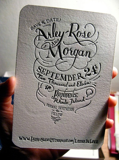 i cant help it, i love letterpress. black n white is really nice. but im sure two toned bt other colours will be great too