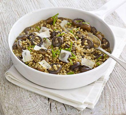 Barley, chicken & mushroom risotto recipe - low GI Recipe - BBC Good Food