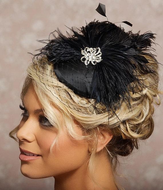 Black Bridal Fascinator Bridal Veils Pinterest