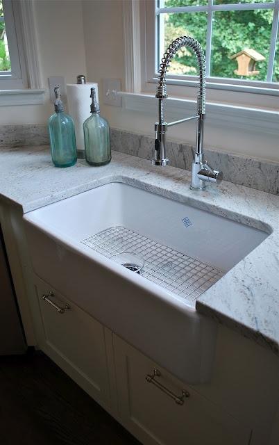 thunder white granite kitchens pinterest on farmhouse kitchen granite countertops id=22062