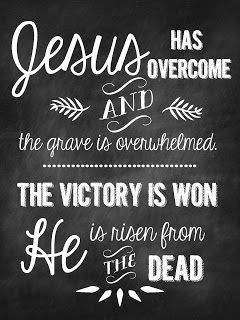 Sweet Blessings: Faith SignsJesus has overcome - He is risen from the dead