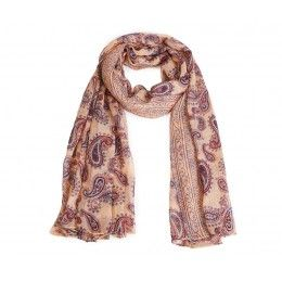 Scarf Paisley Print Light Pink
