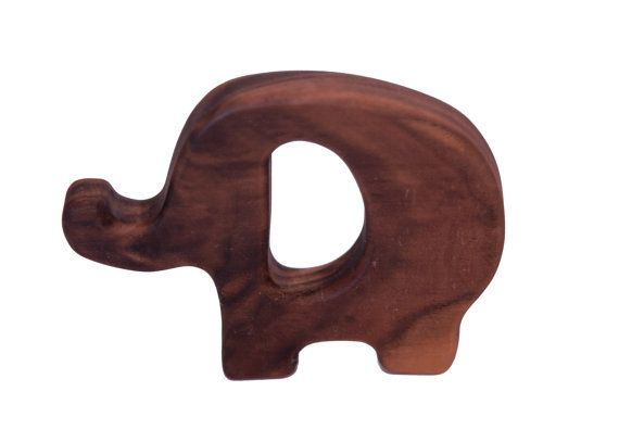 for Baby, wood toys for babies and kids - Elephant Teething Toy