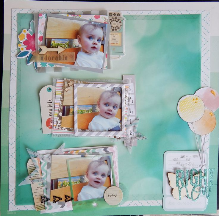 RIGHT now - Scrapbook.com - Made with American Crafts prodocts.