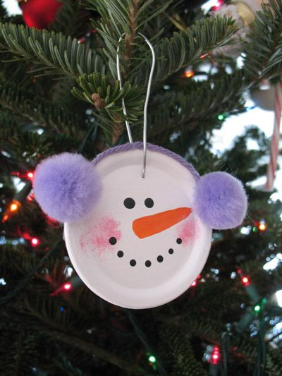 Easy Snowman Ornament | Christmas crafts - so adorable
