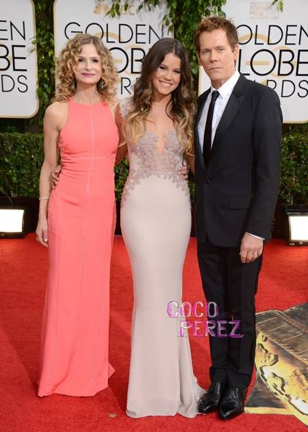 Kyra Sedgwick & Kevin Bacon  Daughter Sosie Bacon As Miss Golden Globes