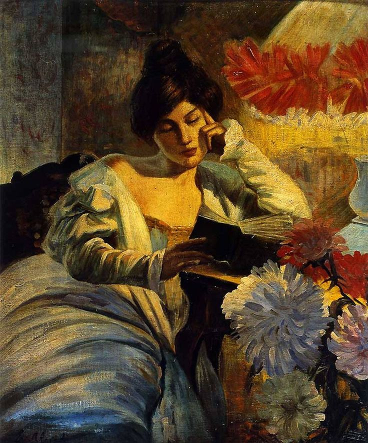 La lettura (1905). Evangelina Alciati