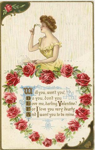 Vintage Valentine Cards. « Joie de Vivre