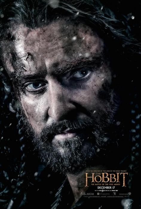 NEW POSTER! Thorin Oakenshield in 'The Hobbit: The Battle of the Five Armies'