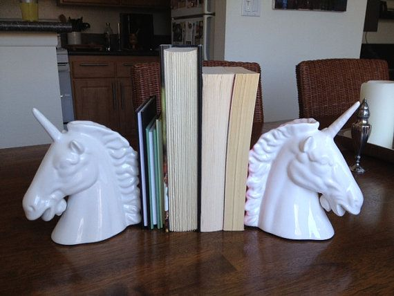 unicorn book ends