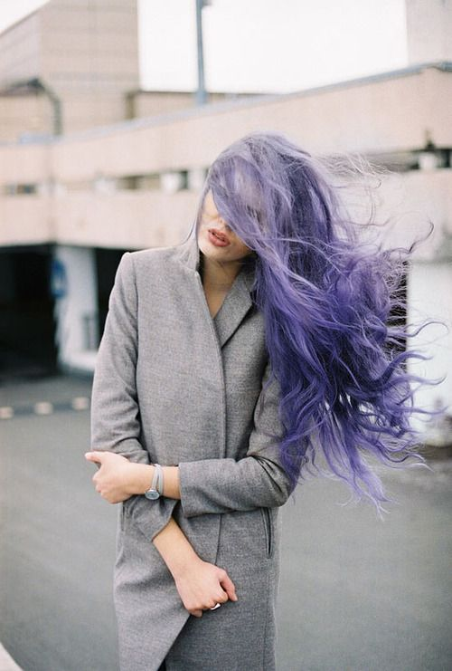 Yes it's lavendar hair, but what I love is how natural it looks!  Soft, wavy long hair that actually looks like it grew out of her head purple! lol!  Very un-i-dyed-my-hair-an-unnatural-color-and-it-took-EFFORT!