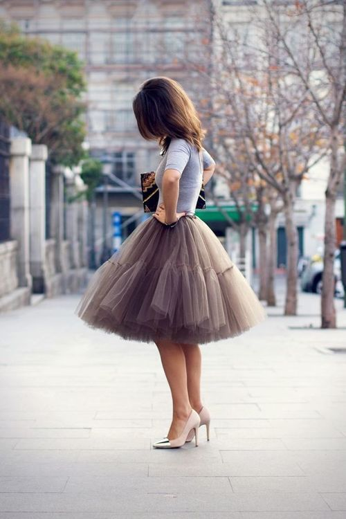 Tulle skirt <3 | Simply Chic. There's just something lovely about this.