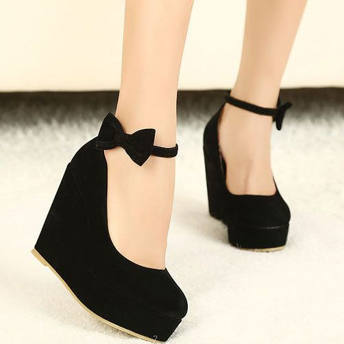 Bowknot Wedge Shoes- love Omg I have to get these Shoes! :O I'm in love ^.^