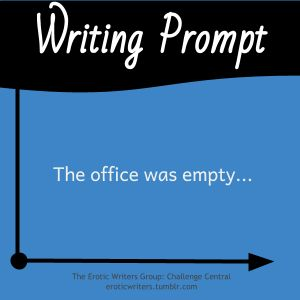 #WritingPrompts for #EroticWriters: The office was empty...