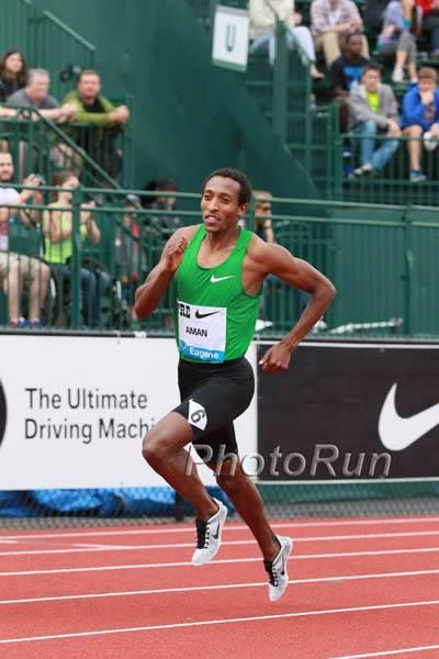 Impressive win for Oromo athlete Mohammed Aman in 800m runs 1:43.79 in Ostrava. 28 June 2013
