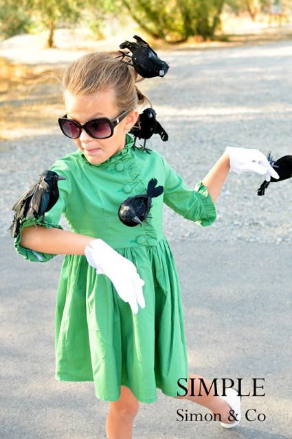 """The Birds"" Costume - 24 Great DIY Kids Halloween Costumes Ideas...when I have a child in the very distant future, they will Alfred Hitchcock characters"