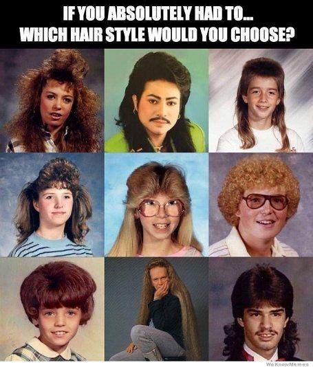 Bald... I'd choose to be bald!