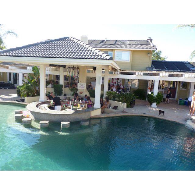backyard outdoor kitchen pool in pool bar seating backyard oasis pinterest on outdoor kitchen near pool id=37816