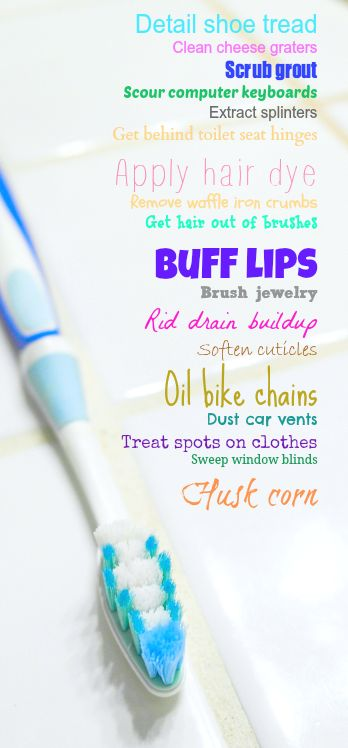 Creative Ways to Repurpose an Old Toothbrush | ecogreenlove