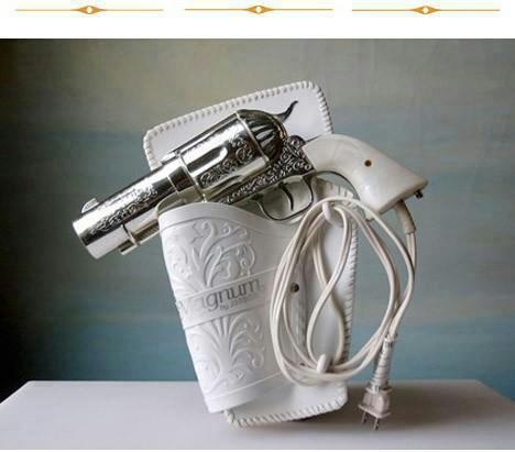 Hair dryer.  How fun!  Holding a gun to your head every morning.