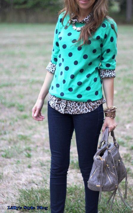 polka dots and leopard  (simplyme091909.blogspot.com)
