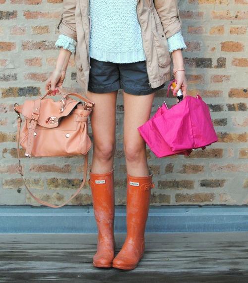 Rainy Outfits / Looks de lluvia / Rain Boots / botas de agua / Hunter / spring / primavera / streetstyle