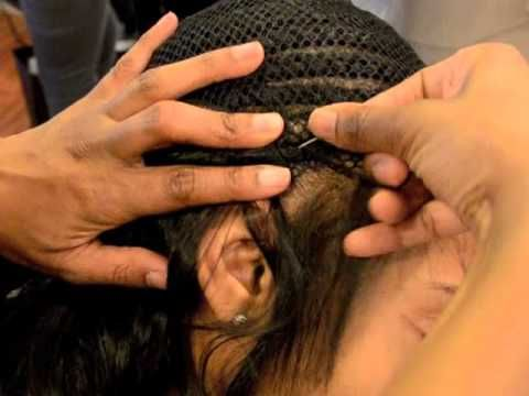 sew in weave tutorial youtube hair pinterest