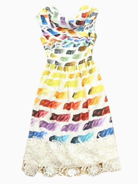 Choies Limited Edition Soft Rainbow A-line Dress   Choies
