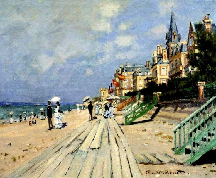 Beach at Trouville / Claude Monet