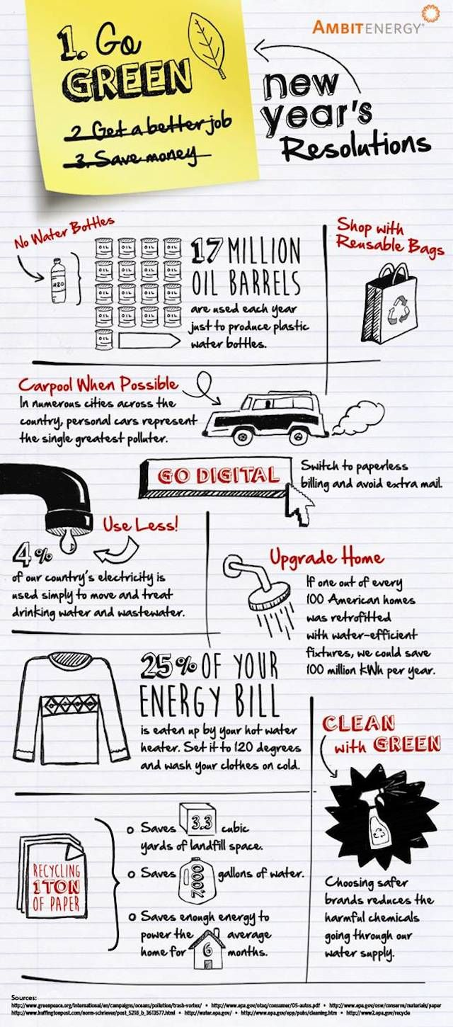 Green resolutions [Infographic] | ecogreenlove