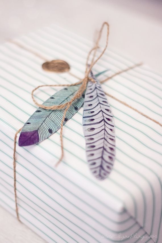 twine & stripes & feathers