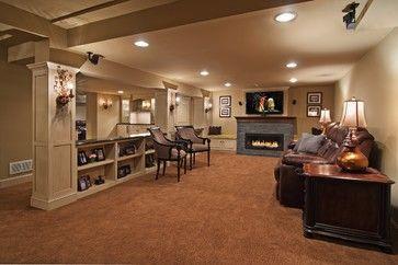 basement family room den design ideas on Basement Den Ideas id=59810
