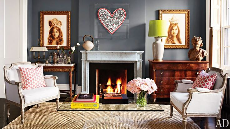 Brooke Shields' mantel