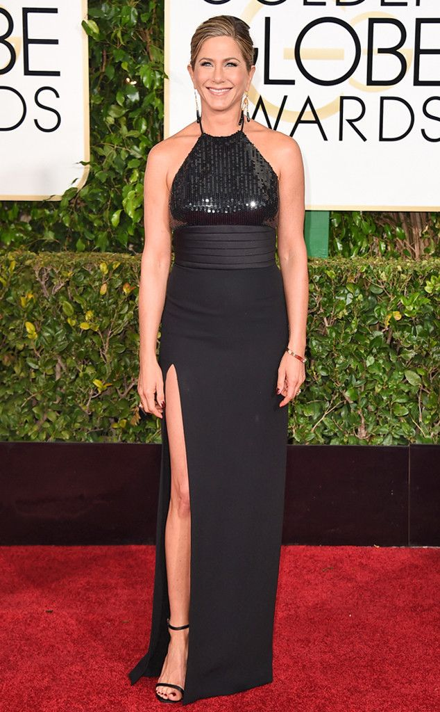 Jennifer Aniston from 2015 Golden Globes Red Carpet Arrivals | E! Online