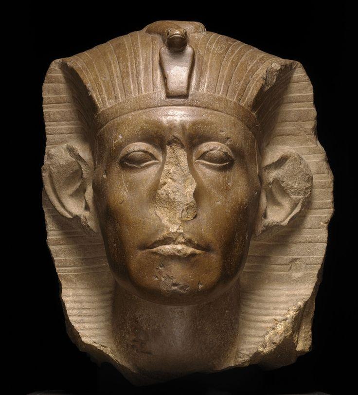 Tête de Sésostris III - Egypte, Moyen empire ©The Nelson-Atkins Museum of Art, Kansas City, Missouri, photo Jamison Miller
