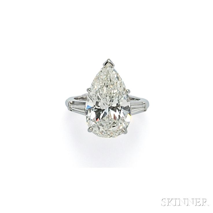 Platinum and Diamond Solitaire | Sale Number 2746B, Lot Number 590 | Skinner Auctioneers