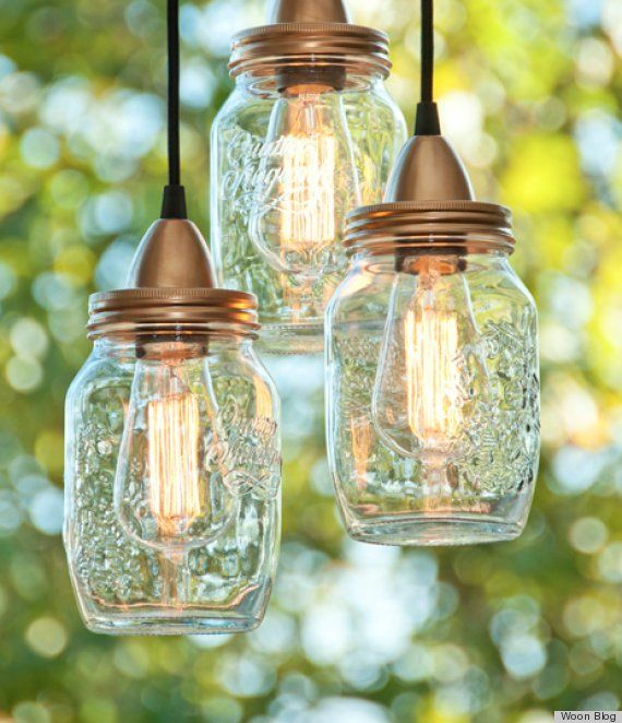 Outdoor Lighting Ideas: mason jar lights, tin can lights, cupcake lights, glowing outdoor orbs, twine ball light garland, handing jar lanterns, wine bottle lights #DIY outdoor lighting ideas, #outdoor lighting