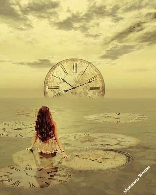 magic clock sea silence ocean sunrise surrealism dream dreamland wonderland