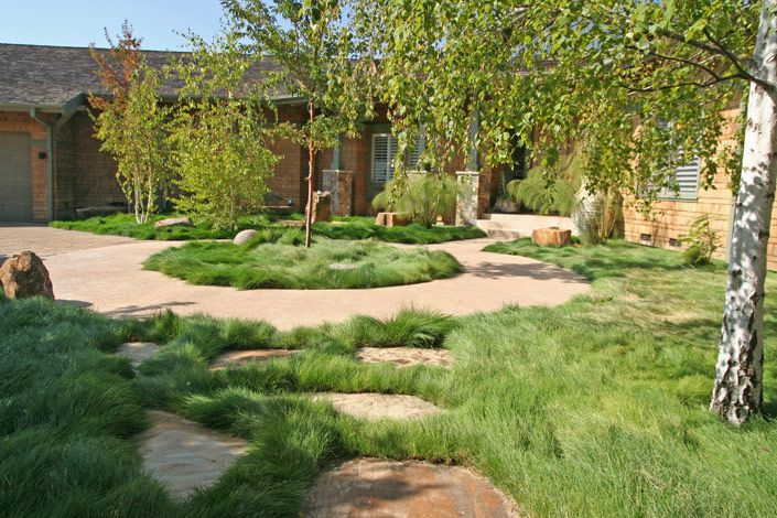 Building ideas: Backyard landscaping ideas no grass on No Mow Backyard Ideas  id=32867