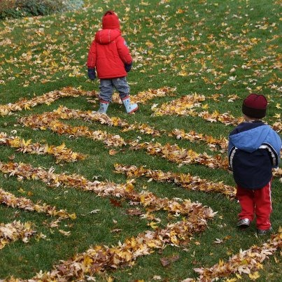 Fall Fun - Make a leaf maze for the kids :) Photo Only