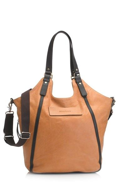 410.41 Free shipping and returns on Storksak 'Ellena' Leather Diaper Bag at Nordstrom.com. A stylish diaper bag shaped from supple calfskin leather pairs elegant design with functional practicality.