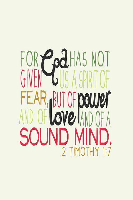 power & sound mind